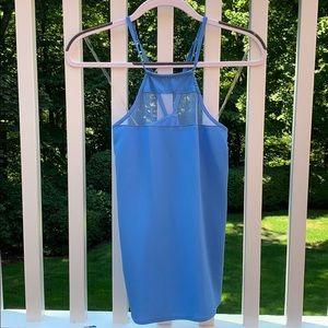 Blue Mesh Silk Blouse